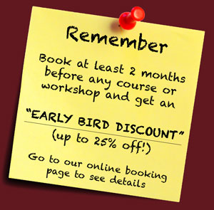 Early Bird Discount for Photo Courses